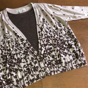 Cathy Daniels Cotton Cardigan Sweater Top Set